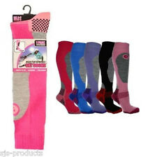 NEW LADIES WOMENS SKI SNOWBOARD SOCKS WINTER PINK/BLUE/PURPLE/RED/BLACK SIZE 4-7