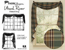 Wood River Fishtail Swag by Park Designs, 145x25 Lined, Plaid, Buy One or Set
