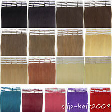 Women Hair Extensions 100% Real Remy Human Hair Super Tape In Hair 20pcs 20Inch
