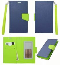 Eagle Aqua Marine Leather ID Flip Wallet Universal Pouch Cover Case For ZTE
