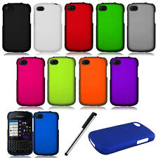 For Blackberry Q10 Rubberized Snap-On Hard Case Phone Cover Accessory Stylus