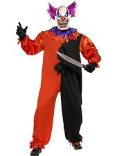New Adults Mens Scary Bo Bo Clown Smiffys Halloween Fancy Dress Costume - 3 Size