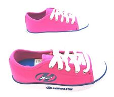 Heelys 770263 Girl's Pure Fuchsia Pink Lace Up Two Wheel Canvas Trainers New