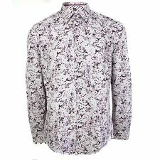 1 LIKE NO OTHER SHIRT PLUM MENS PURPLE FLORAL PATTERN