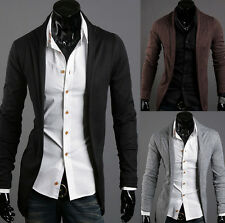 Pure color stylish slim fit cardigan men's casual Knitwear coat autumn new