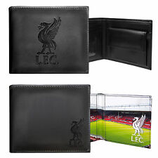 Liverpool FC Official Football Gift Embossed Crest Wallet Black (RRP £24.99!)