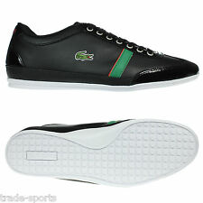 LACOSTE MENS MISANO BLACK GREEN RED TRAINERS SIZE 8 9 10 11 SHOES CASUAL RUBBER