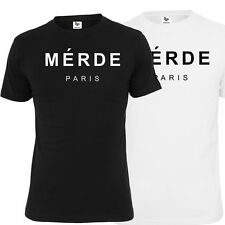 "HIGHSHINE T-SHIRT ""MERDE PARIS"" NBA JORDAN OVOXO YMCMB MMG  DOPE"
