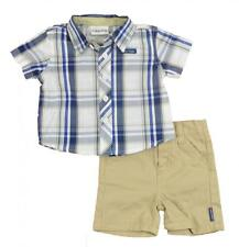 Calvin Klein Infant Boys Plaid Short Set  Size 18M 24M $42.50