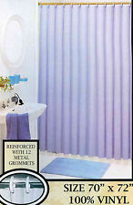 VINYL SHOWER CURTAIN LINER WITH MAGNETS AND METAL GROMMETS