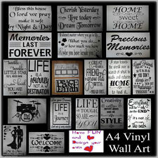 WALL STICKERS Glossy Vinyl Decal Transfer Modern Home Art Vinyl Decor Quote