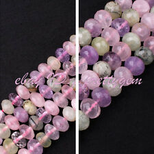 """6X10MM/10X14MM FACETED RONDELLE MIXED QUARTZ LOOSE GEMSTONE BEADS STRAND 15"""""""