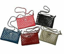 MNG Quilted Chain Color Zipper Shoulder Sling Hand Bag Purse 2501360237