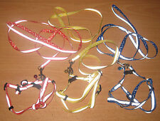 NEW  Reflective Adjustable Nylon Harness Bell & Lead Set - Cat Small Pets & Dogs