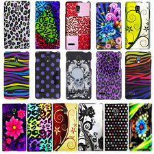 For LG Optimus L9 P769 T-Mobile Flower Polka Dot Design Hard Cover Snap On Case