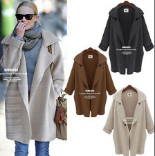 New Womens Batwing Sleeve Knitted Cardigan Loose Casual Sweater Lady Jacket Coat