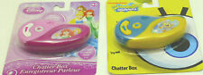 DISNEY PRINCESS OR SPONGE BOB CHATTER BOX AGES 4+ PRESS AND HOLD KEY TO RECORD