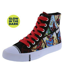 Ultimate Spider Man Boy's Shoes PIDER-MAN COMIC GLOW High Top BLACK