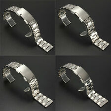 18/20/22/24mm Silver Stainless Steel Watch Band Strap Bracelet Link Straight End