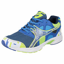 MENS AIR TECH  LACE UP TRAINERS IN BLUE/NAVY/GREEN    ACTIVE
