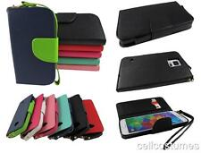 Flip Jacket Wallet PU Leather w/ Strap Phone Case Cover for Various Phones