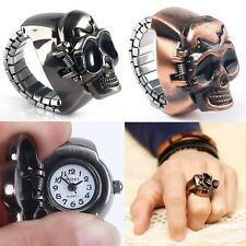 Cool Skull Punk Gothic Style Finger Ring Watches Quartz Watch Finger Decoration