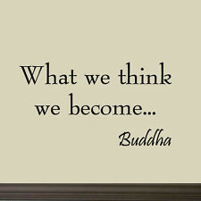 What We Think We Become Buddha Saying Vinyl Wall Art Decal Inspirational Quote