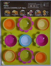 Silicone Cupcake Fairy Cake and Chocolate Cases Baking Cooking Cakes Kids Party