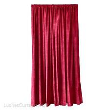 Burgundy Extra High Backdrop Sound Deadener Velvet Curtain 18 ft Drop Long Panel