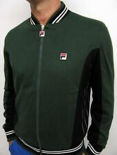 Fila Vintage Settanta Borg BJ Track Top Mk1 in Racing Green XS,S,M,L,XL,2XL,3XL