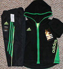 New! Boys Adidas Track Outfit (Fleece Jacket; Lined Pants) - Size 12, 18,  24 Mo