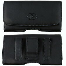 Leather Belt Clip Case Holster for Cell Phones fits WITH OTTERBOX COMMUTER ON IT