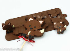 FOX - WOODLAND Novelty Chocolate Silicone Bakeware Cake Lolly Mould Candy Mold