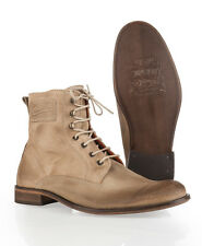 New Mens Superdry Logan Boots Suede Sand Brown SVH
