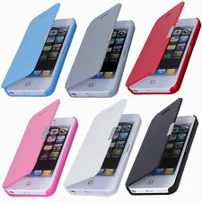 Magnetic Leather Flip Hard Case Cover Pouch Skin For Apple iPhone SamsungGalaxy