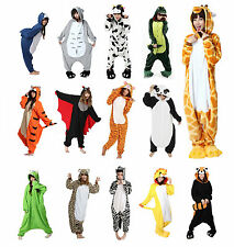 Mens Ladies Unisex Animal Onesie Kigurumi Fancy Dress Pyjamas Sleepwear S M L XL