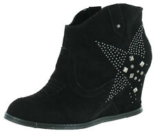 Naughty Monkey Giddy Up Women's Suede Cowgirl Ankle Boots Booties