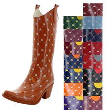 Corky's Stadium Stompers Women's Western Rain Boots Wellies