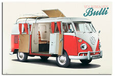 VW Camper Bulli Large Wall Poster New - Maxi Size 36 x 24 Inch