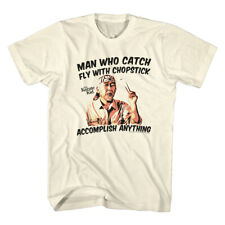 Karate Kid 1980's Teen Martial Arts Movie Catch Fly With Chopstick Adult T-Shirt