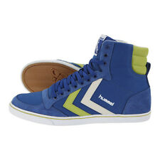 HUMMEL TRAINERS SLIMMER STADIL HIGH CANVAS HI TOPS UK 7 LIMOGES BLUE
