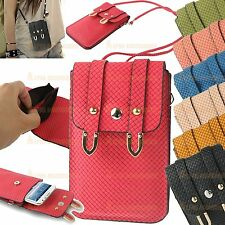 Leather Case Carry Bag Pocket Pouch Sleeve For Samsung, HTC, Motorola, LG, Sony