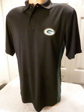 4920 Mens GREEN BAY PACKERS Sideline DRI FIT Performance Jersey POLO Shirt BLACK
