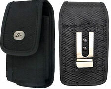Vertical Heavy Duty Rugged Canvas Case Clip Pouch for BLU Cell Phones