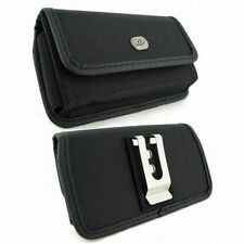 Sideways Rugged Canvas Belt Clip Case Pouch for Google Cell Phones