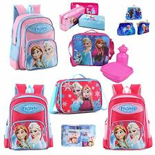 "Frozen 16"" Backpack School Bag Pencil Case Set Lunch Bag Elsa&Anna Rucksack"