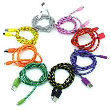 1M 2M 3M  Micro V8 USB Durable Braid Cable For Samsung Galaxy S3 S4 HTC Sony NEW