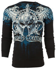 Xtreme Couture AFFLICTION Mens THERMAL T-Shirt DEALER Tattoo Biker M-3XL $58