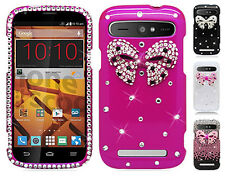Boost Mobile ZTE Warp Sync N9515 Crystal Diamond BLING Protector Hard Case Cover