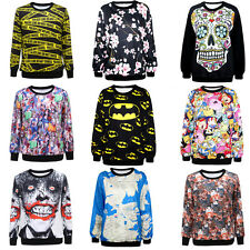 Mode pour hommes Graphic Printing Pull à manches longues Pulls Blouses Chemisier